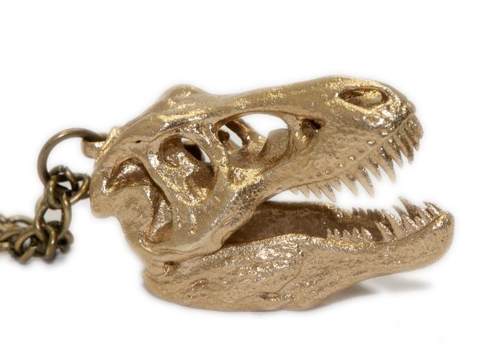 Tyrannosaurus rex pendant 25mm with loop 3d printed Chain available separately
