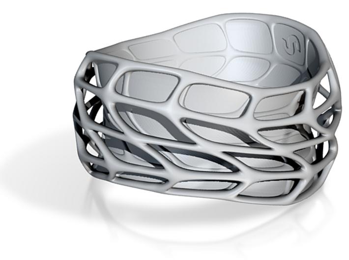 Panel Twist Bracelet Half Hollow (Sz ML) Thicker S 3d printed