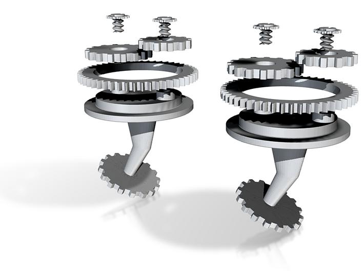Multi Gear Cufflink 3d printed