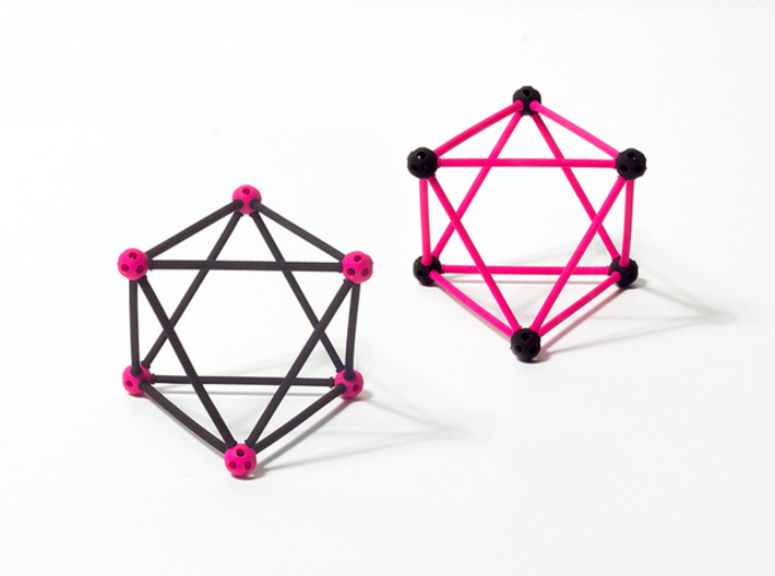 'Sprued' Octahedron #color 3d printed