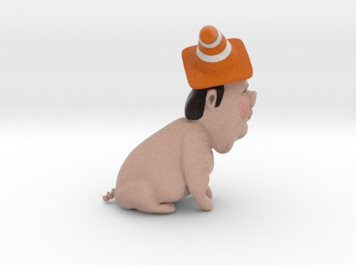 Chris Christie the Gestation Pig inaction figure 3d printed