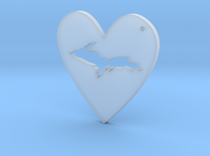 I love UP Pendant 3d printed