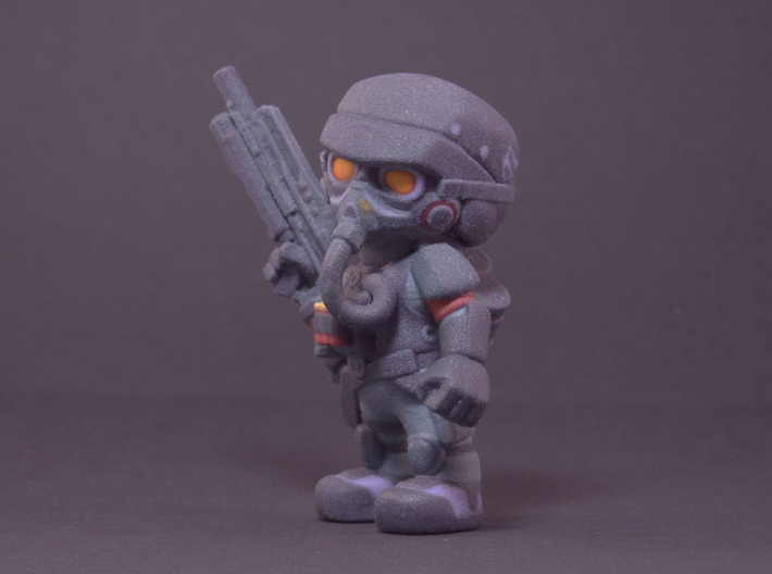 Helghast Trooper 3d printed