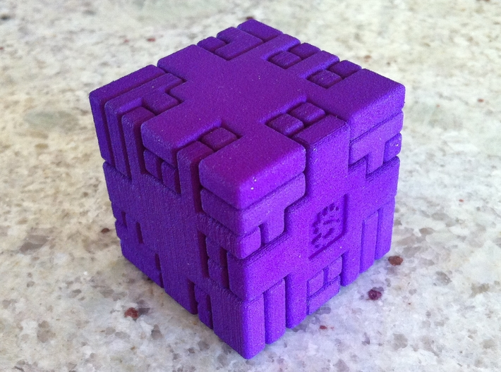 Twisty Burr 3d printed Solved