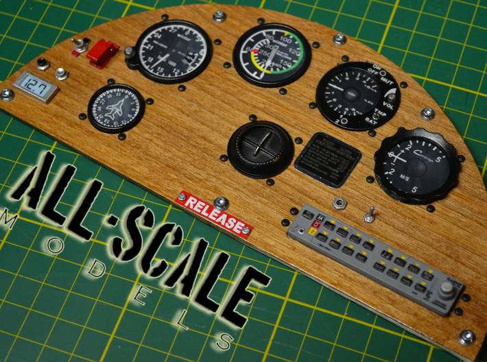 super scale RC airplane cockpit parts  3d printed