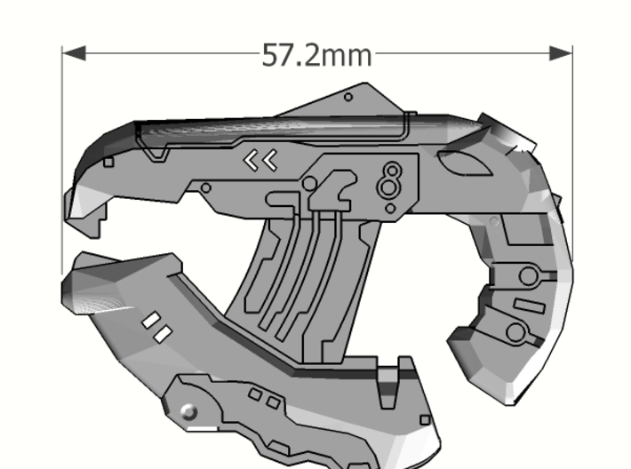 1:6 Large Direct Energy pistol 3d printed