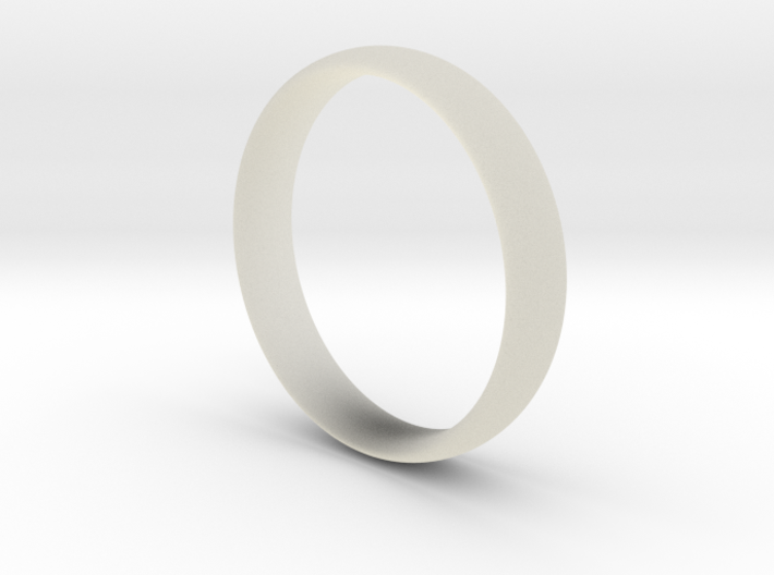 Ring - Basic Band - Comfort Fit - Size 8.5 3d printed