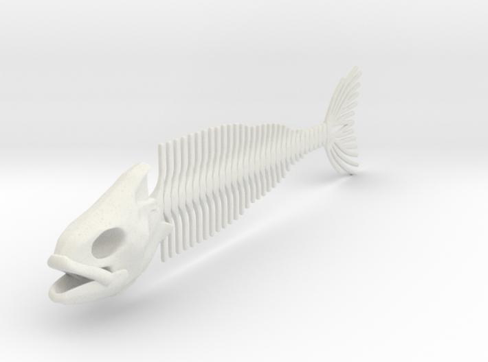 Flexible Fish Skeleton 3d printed