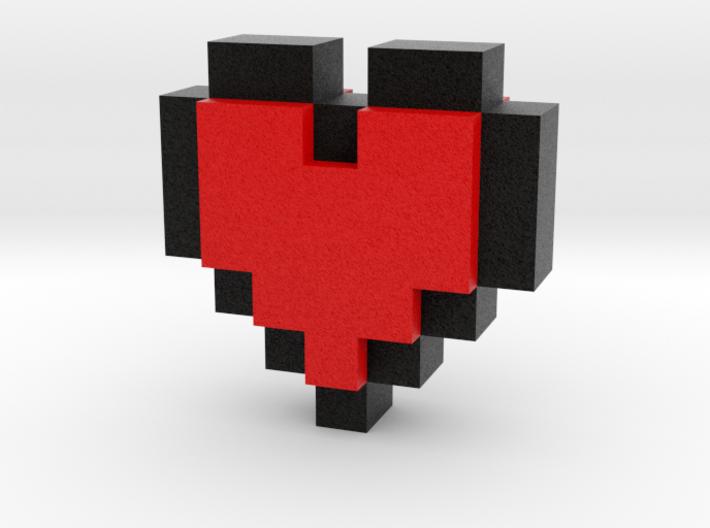 bitc Pixel Heart 3d printed