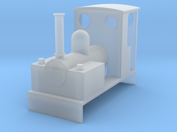 OO9 Bagnall 0-4-0 for Minitrains Chassis 3d printed
