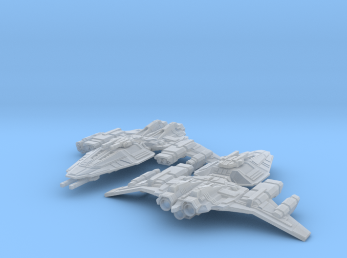 HOMEFLEET Destroyer -  2 ships 3d printed