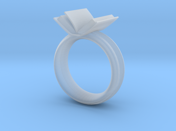 Book ring(USA 6.5,Japan 12, Britain M) 3d printed