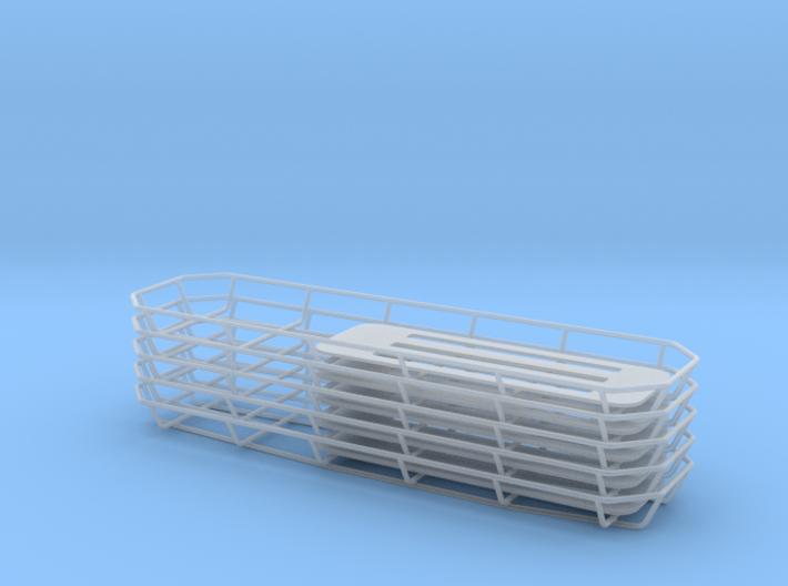 Stokes Basket (Rectangular (set of 5) (1/24 scale) 3d printed