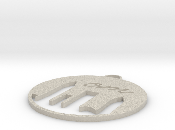om...CLE Hanging Ornament 3d printed