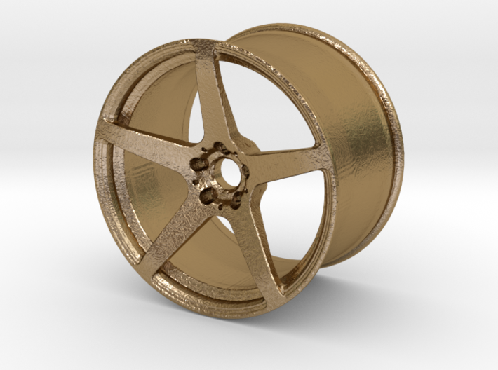 Scaled 1:12 5 Spoke Performance Wheel 3d printed