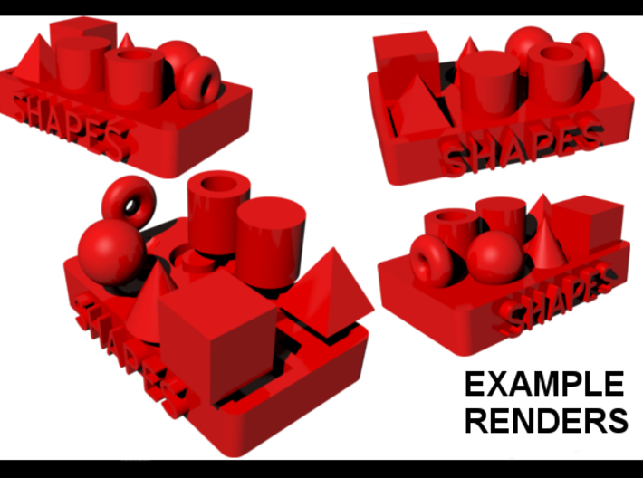 Collection of Primitive Shapes 3d printed