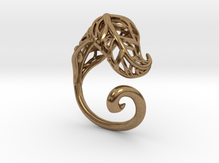 Tea Leaf Ring 3d printed