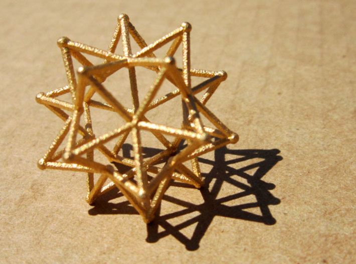 Stellated Icosohedron WireBalls - 3cm 3d printed