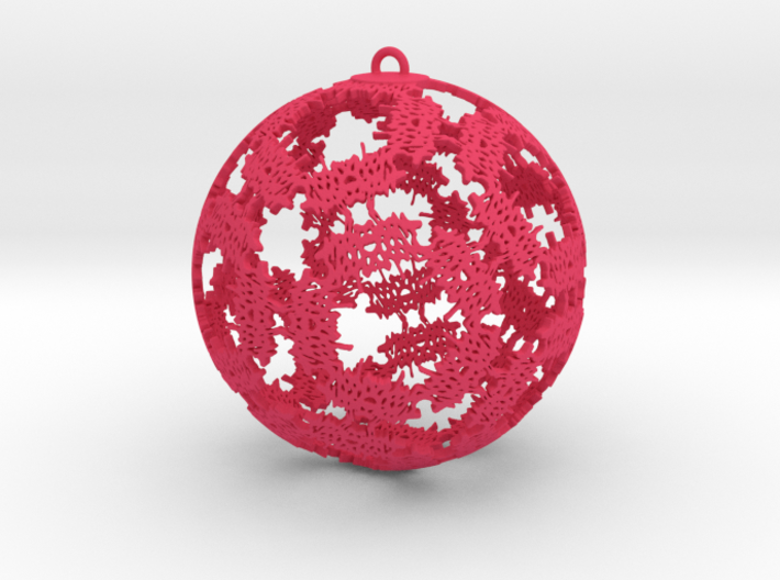 Double Happiness Ornament 3d printed