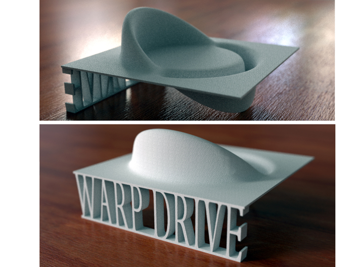 Alcubierre Warp Drive with 3D text 3d printed