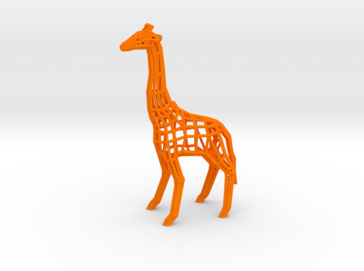 Low Poly Wireframe Giraffe [10cm Tall] 3d printed
