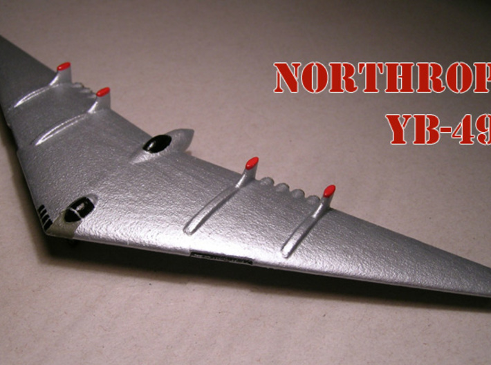 1/285 Northrop YB-49 Flying Wing (x2) 3d printed Model paint and decal work by Fred Oliver. Image provided by Fred Oliver.