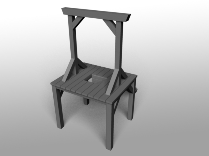 Gallows - Double Posted, Dropped (ZScale) 3d printed