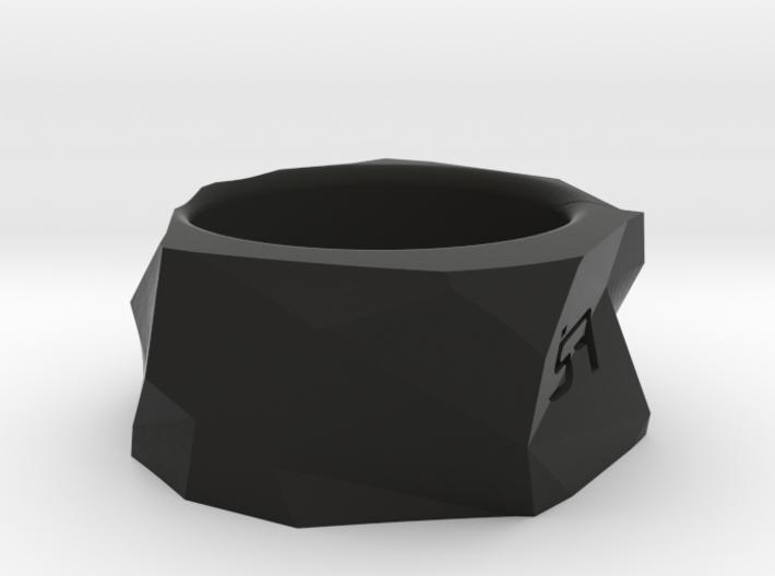Origami Ring 3d printed