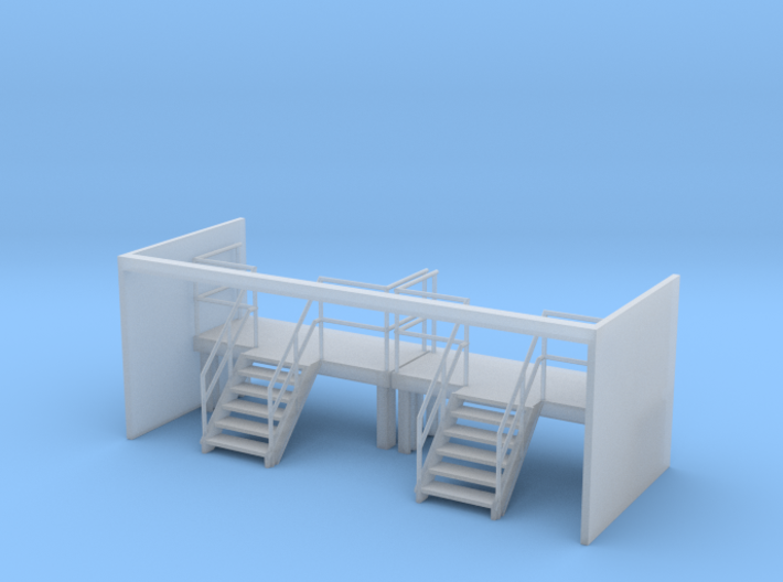 Factory Stairs in HO - Wide - 2 sets 3d printed