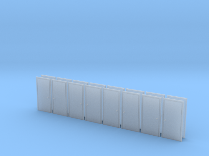 Metal Door in HO Scale - set of 16 3d printed