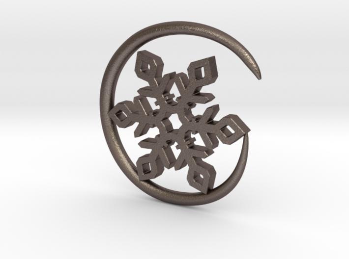 Earhook-Flake 3d printed