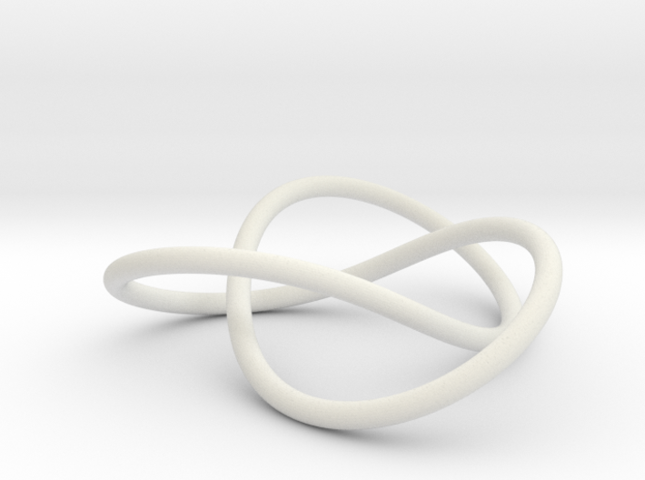 Trefoil spine (knot only) 3d printed