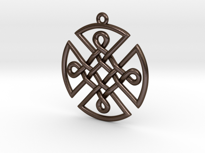Celtic Shield Pendant 3d printed