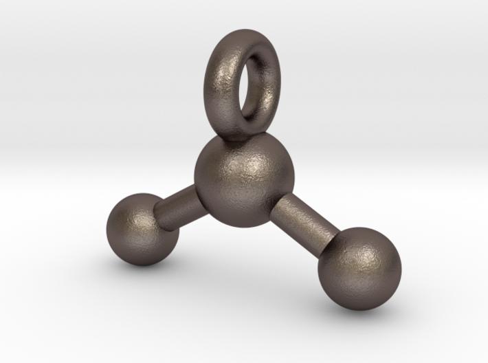 3D Printed Metal Water Molecule Key chain 3d printed