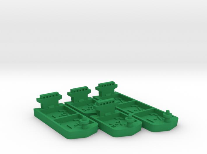 Cargo ships (4 pcs) 3d printed
