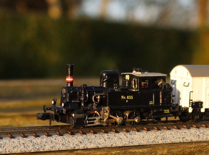 DSB F class N scale (with no tender extension) 3d printed