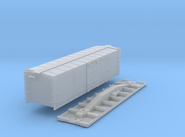 N-Scale D&SL 52000 Series Boxcar Kit 3d printed
