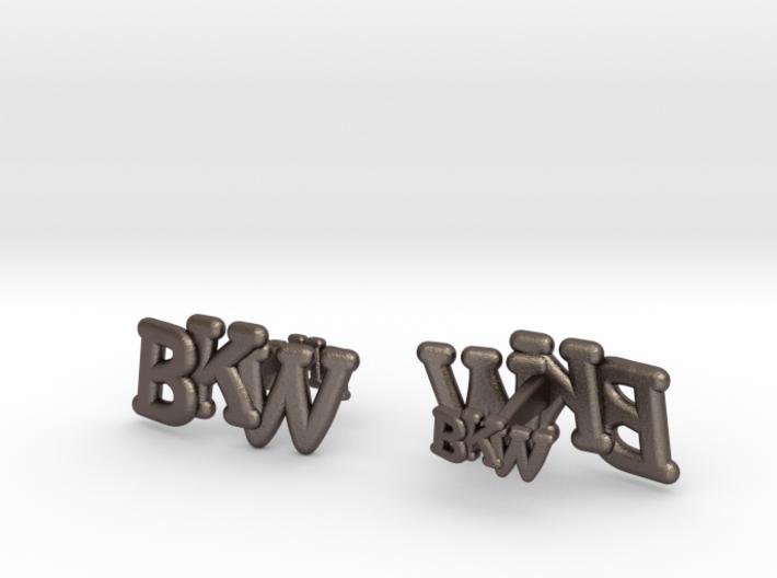 Monogram Cufflink duo 3d printed