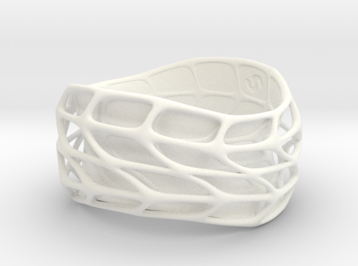 Panel Twist Bracelet Half Hollow (Sz ML) Thicker S 3d printed