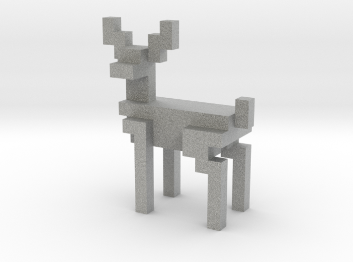 Big 8bit reindeer with sharp corners 3d printed