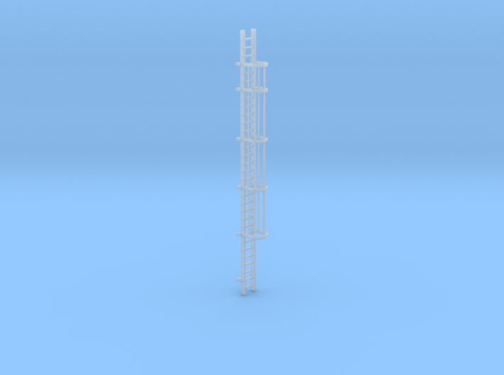 'N-Scale' - 30' Caged Ladder 3d printed