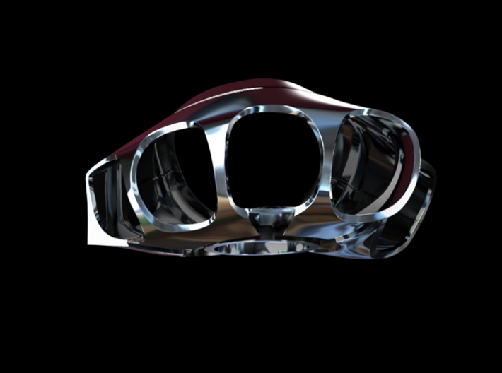 Metal Iron Man Right Palm Armor (Size Large) 3d printed Cg Render (Front)