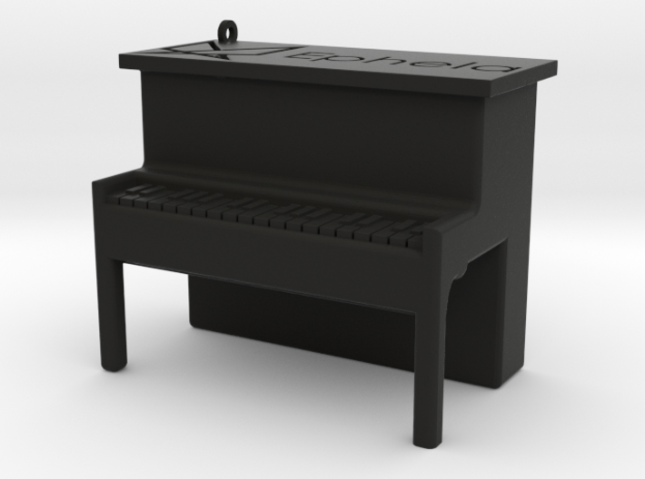 Piano Pendant 3d printed
