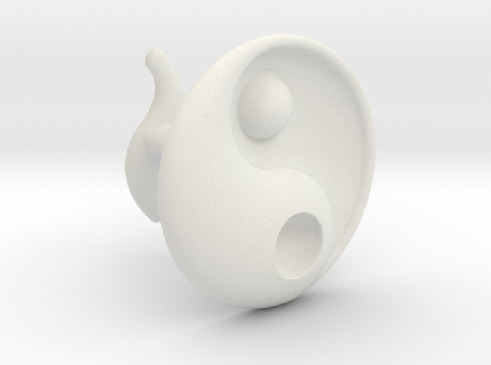 Yin Yang - 6.1 - Cufflink - Right 3d printed