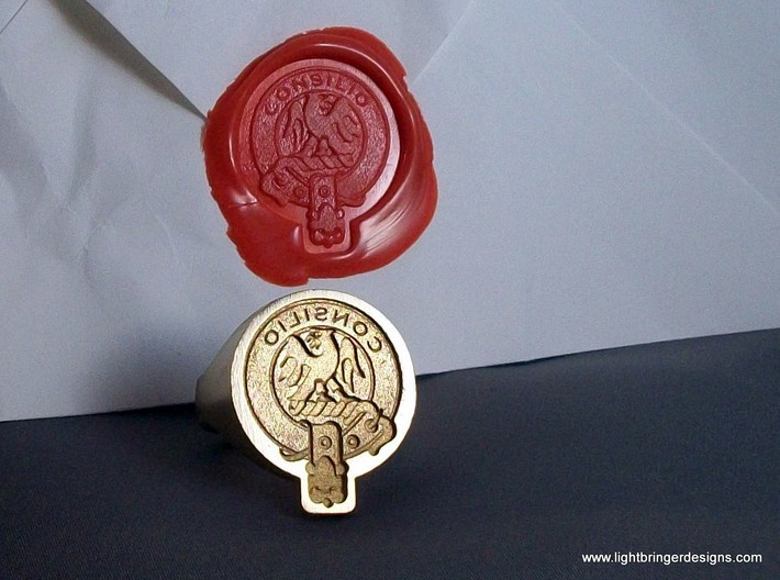Custom Signet Ring 3d Printed Scottish Crest Badge This Is An Example