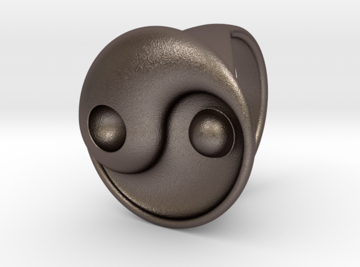 Yin Yang - 6.1 - Ring For Her - 16.5 Mm 3d printed