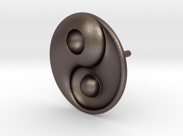 Yin Yang - 6.1 - Stud Earring - Left 3d printed