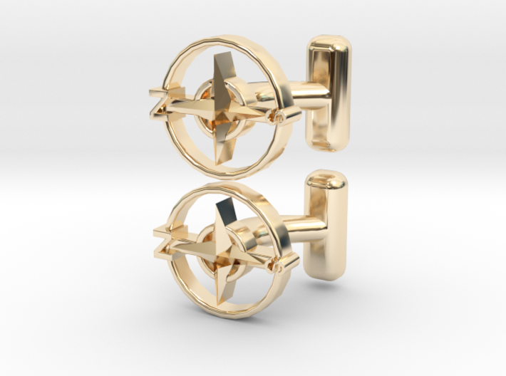 Compass Cufflinks, Part of the NEW Nautical Collec 3d printed