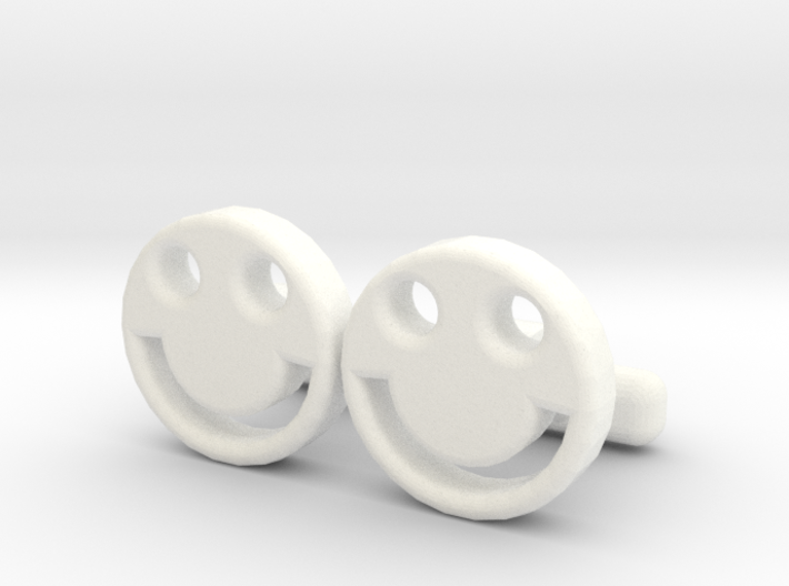 """Happy Face Cufflinks, Part of """"Fun Loving"""" Collect 3d printed"""