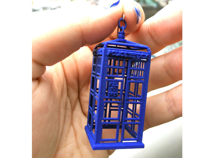Police Box Ornament, Decoration, or even Necklace! 3d printed
